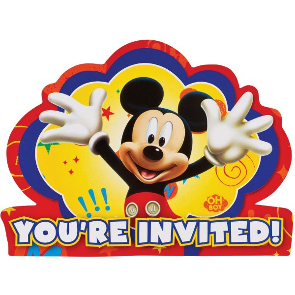 mouse invitations 8ct,