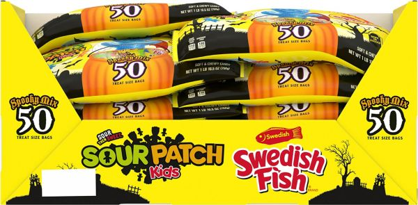 Swedish Fish & Sour Patch Kids Variety Mix 50ct
