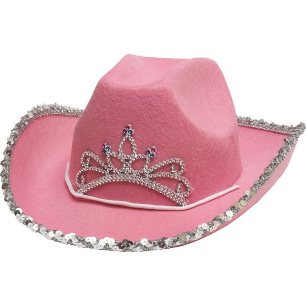 Pink Rhinestone Cowgirl Hat