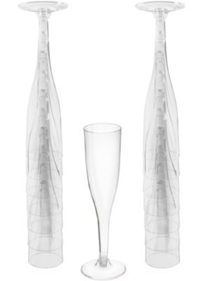 big party pack clear plastic champagne flutes 20ct