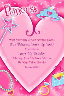 Custom Princess Invitations