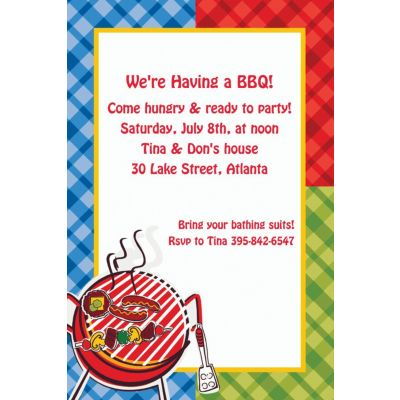 Custom Backyard BBQ Invitations