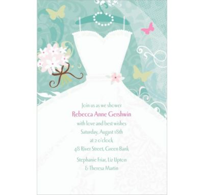 Custom Something Blue Bridal Shower Invitations