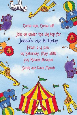 Custom Flying Circus Invitations