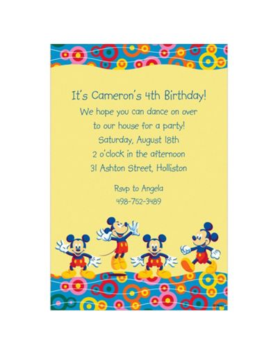 invitations invites mouse party party shower baby baby city city party
