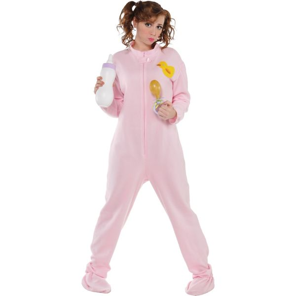Pink Footie Pajamas Costume