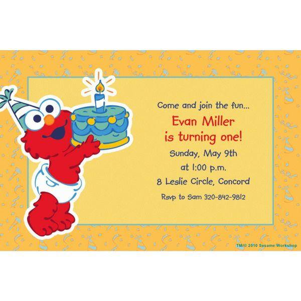 Elmo First Birthday Invitations – Party City Birthday Invitations