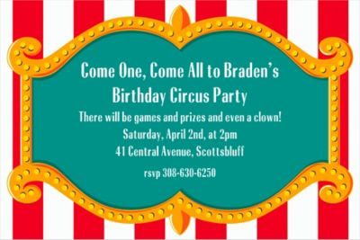 Custom Big Top Invitations