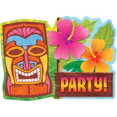 Luau Tiki Man Invitations 20ct