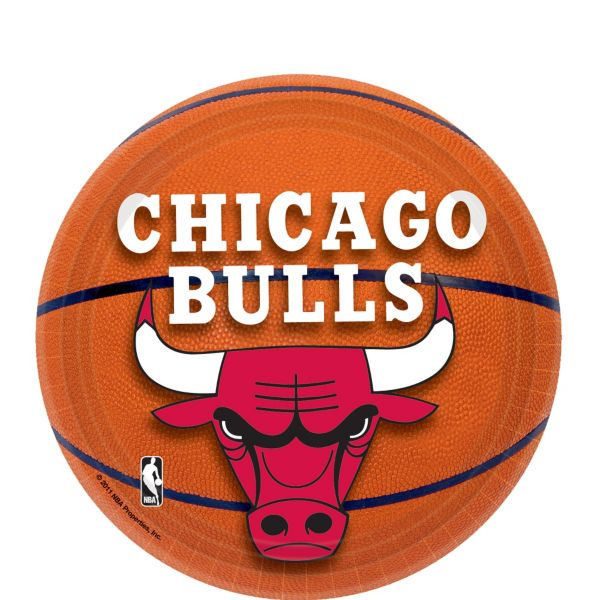 Chicago Bulls Dessert Plates 8ct