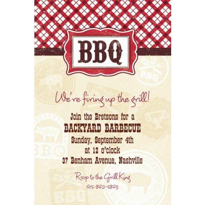 Custom It's BBQ Time Summer Invitations