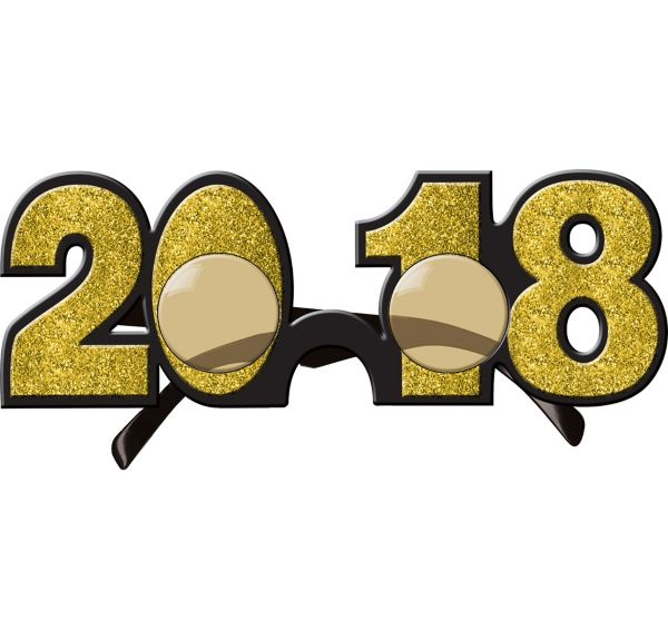 Glitter Gold 2018 Glasses