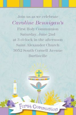 Custom Joyous Communion Invitations