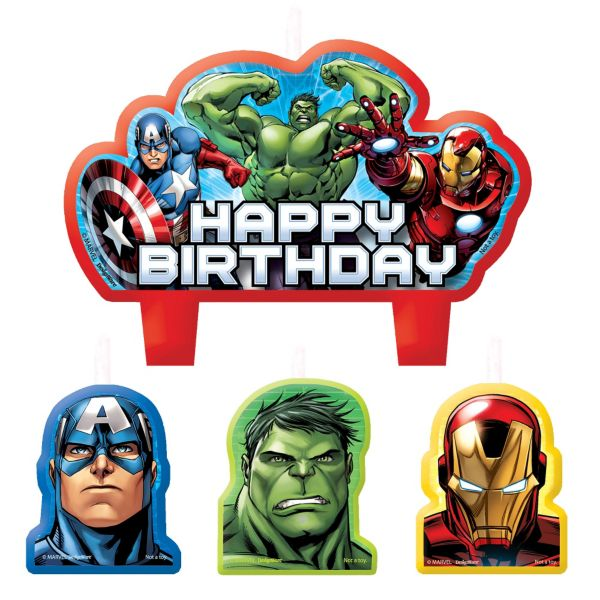 Avengers Birthday Candles 4ct