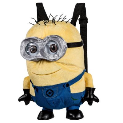 Go WHAAA! for a Jerry Minion Plush Backpack! This colorful backpack features a soft plush design of your favorite Minion from Despicable Me Jerry complete with moveable arms and legs. A zipper on the back opens up to a secure pocket that's great for storing small valuables. With adjustable black straps this huggable and functional Minion is perfect to take with you anywhere! Jerry Minion Plush Backpack product details:  Measures 9in x 12 7-8in x 6in Pocket measures 5in x 5in Plush  Adjustable straps