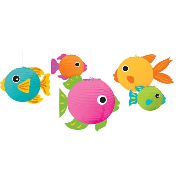 3d tropical fish paper lanterns 5ct for Paper lantern fish