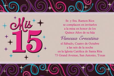 Custom Mis Quince Anos Invitations