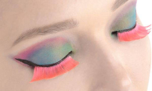 Self-Adhesive Hot Pink False Eyelashes