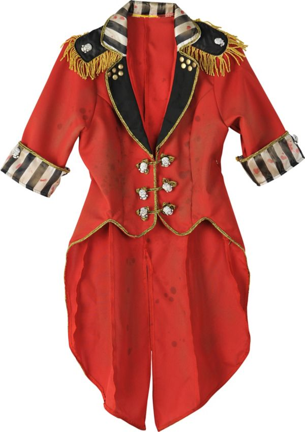 Womens Vintage Cropped Red Ringmaster Jacket - Freak Show