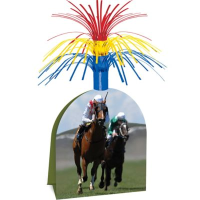 Horse Racing Cascade Centerpiece