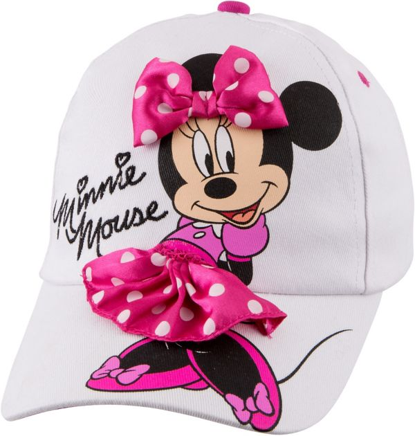 Child White Minnie Mouse Baseball Hat