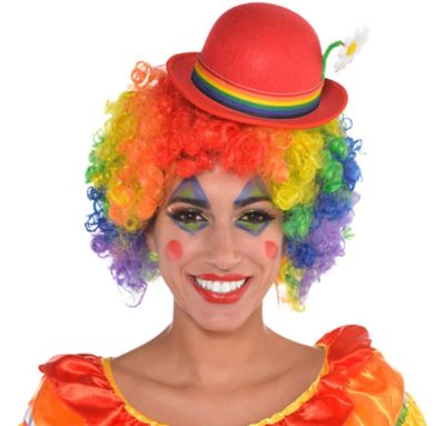 Red Clown Mini Derby Hat