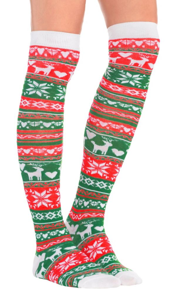 Isle Christmas Over-the-Knee Socks