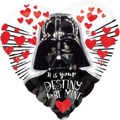Darth Vader Valentineu0027s Day Heart Balloon   Star Wars