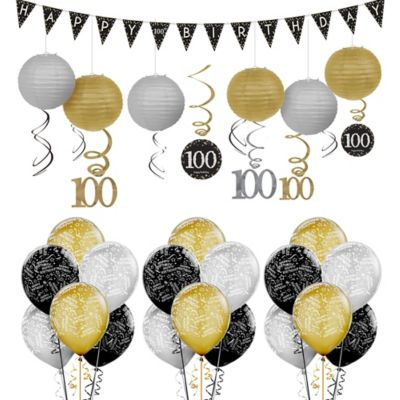 100th Birthday Sparkling Celebration Decorating Kit Party Supplies