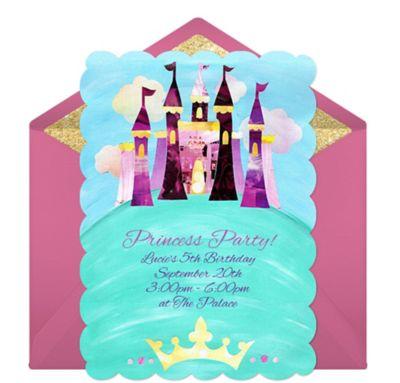 Online Princess Castle Invitations