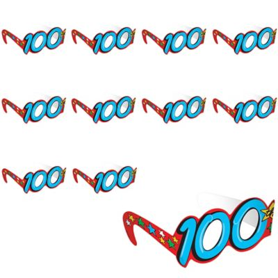 100th Day of School Glasses 12ct