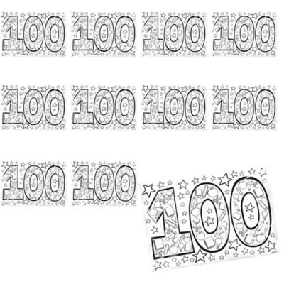 100th Day of School Coloring Pages 36ct
