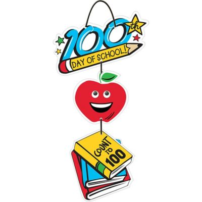 100th Day of School Stacked Sign