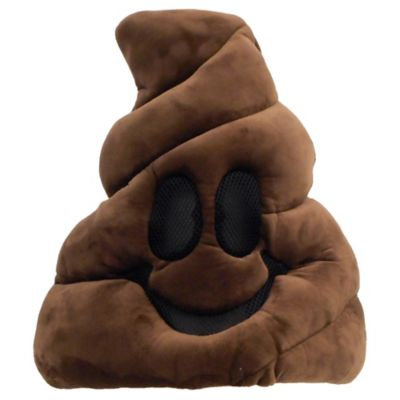 Flush all other costume ideas down the toilet and make way for this Oversized Poop Icon Mask! This oversized polyester mask is designed to look like the poop emoji with a smiling face. The eyes and mouth feature a black mesh material to be able to see through. Everybody will get a kick out of your costume this year when you show up wearing this poop emoji mask!  Oversized Poop Icon Mask product details:  15 1-2in wide x 3in long x 15in tall  Polyester One size fits most teens and adults  Officially licensed EMOJINATION product
