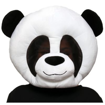 The black and white Panda Mask is an oversized plush mask that features a breathable mesh layer over the eyes. Put on the Panda Mask with a black and white outfit or panda costume and you're ready to go! You'll look paw-fect wearing this for Halloween or to your next furry convention.  Panda Mask product details:  16in wide x 19in long 100% polyester Spot clean only One size fits most teens and adults
