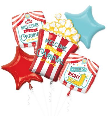 Carnival Balloon Bouquet 5pc