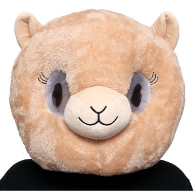 The Llama Mask is an oversized plush mask that features a happy beige llama face with eyelashes and a breathable mesh layer over the eyes. It's an easy throw-on costume for last-minute plans. Add it to a beige outfit and you're ready to go!  Llama Mask product details:  12in wide x 18in long 100% polyester Spot clean only One size fits most teens and adults