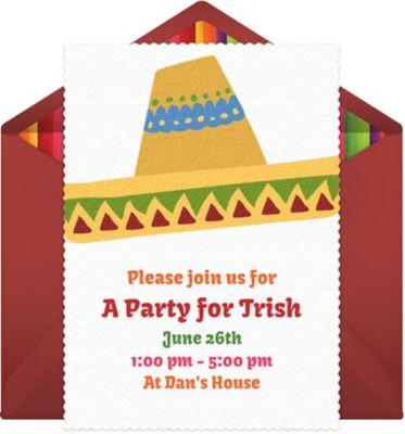 Online Sombrero Invitations
