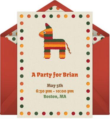 Online Pinata Horse Invitations