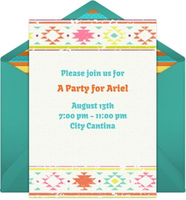 Online Mexican Pattern Invitations
