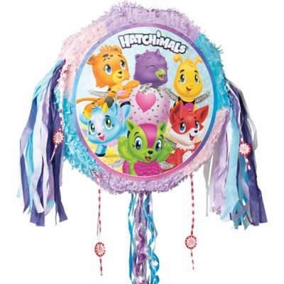 Pull String Hatchimals birthday party Pinata