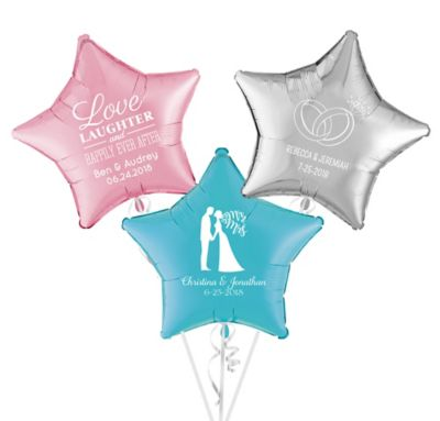 Personalized Wedding Star Balloon