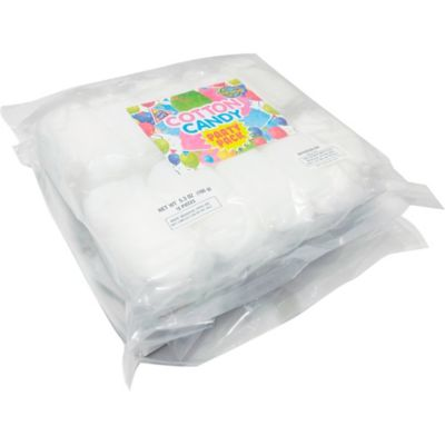 The little ones can enjoy their favorite sweet treat in watermelon flavor with a White Watermelon Cotton Candy Party Pack! This pack includes individual pouches of watermelon-flavored cotton candy. You can give out this cotton candy at your child's carnival-themed birthday party or as a party favor for any other themed party! White Watermelon Cotton Candy Party Pack product details:  20 bags per package White Watermelon flavor 0.53oz individual net weight 10.6oz package net weight