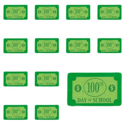 100 Days of School Dollar Bill Erasers 100ct