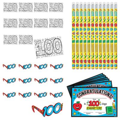 100 Days of School Classroom Party Favors 120pc