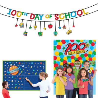 100 Days of School Classroom Decoration & Photobooth Supplies
