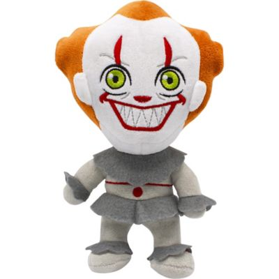 Your dog will love their new Pennywise Dog Toy! This toy is a must for all IT fans and their pets. This super soft dog toy is suitable for light to medium chewers and will squeak when squeezed. Tt's is sure to keep your pet interested and entertained! Small Pennywise Dog Toy product details:  6in wide x 2 1-2in long x 9in tall Makes noise