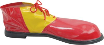 Adult Red & Yellow Clown Shoes Deluxe