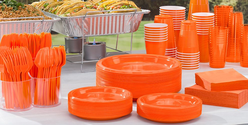 Orange Solid Color Tableware