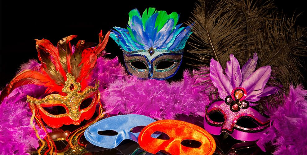 Colorful Masks & Boas